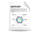 Rapport 360° feedback en ligne graphe radar