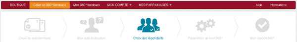 360 feedback en ligne -Choisir ses répondants